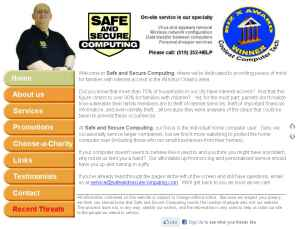 Safe and Secure Computing - version 2